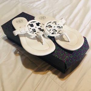 *Tory Burch White Miller Sandals